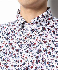 MEN'S BIGI(メンズビギ)のリネン花柄プリントシャツ(シャツ・ブラウス) 詳細画像