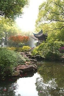 Jichang Zen Garden in Wuxi Chinese Architecture, Landscape Architecture, Landscape Design, Garden Design, Chinese Landscape Painting, Landscape Paintings, Canvas Paintings, Abstract Landscape, Japan Nature