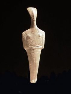 Chalandriani Variety Female Figure  Early Cycladic II, about 2300-2200 B.C.MarbleTampa Museum