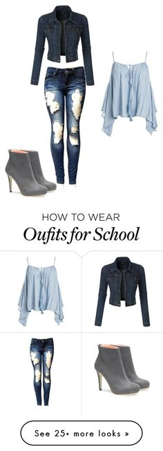every day school outfit by sophie-cool on Polyvore featuring Sans Souci and LE3NO
