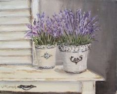 Original Whimsical Painting - French Lavender - Postage is included Australia Wide