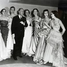 1950- Dior and models Vintage Christian Dior Photos - Most Beautiful Christian Dior Gowns