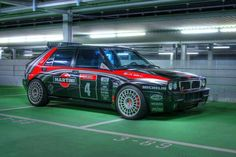 Lancia Delta Integrale (on Compomotive wheels) Vintage Racing, Vintage Cars, Sport Cars, Race Cars, Carros Suv, Supercars, Dream Cars, Automobile, Martini Racing