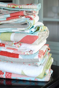 What could be better than a stack of quilt deliciousness?