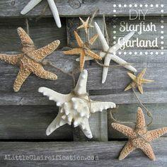 DIY Starfish Garland | A Little CLAIREification