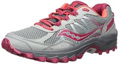 Best Athletic Shoes | Saucony Womens Excursion TR11 RunningShoes Grey Pink 115 Wide US * Click image for more details. Note:It is Affiliate Link to Amazon.