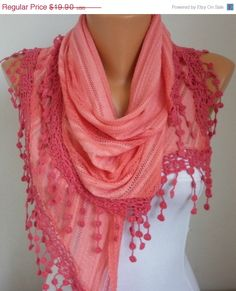 Lace Scarf   scarf shawl  Sale scarf   Free scarf  by anils, $17.91