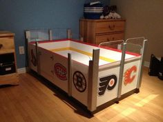 Penalty box bed. I'd do a timeout area. Yup.