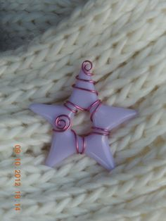 Fused glass star ornament - lavender. $8.00, Available at: https://www.etsy.com/listing/113107163/fused-glass-star-ornament-lavender#