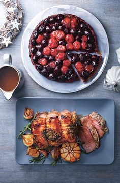 If you don't fancy turkey, why not branch out out with a stuffed beef joint? Or for a vegetarian option, our maple and honey caramelised shallot and beetroot tarte tatin goes perfectly with the usual trimmings.