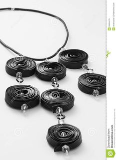 Ecojewelry Necklace From  Bicycle Inner Tube - Download From Over 50 Million High Quality Stock Photos, Images, Vectors. Sign up for FREE today. Image: 29994479