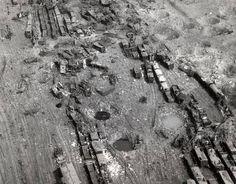 Railyard près de Limbourg a été rendue inutilisable par les bombardiers moyens de la 9th USAAF sur Décembre 23,1944, dans le cadre du plan aérien tactique d'isoler les troupes ennemies de leurs sources d'approvisionnement et de renforts. C'était le premier jour de bon temps pendant le renflement