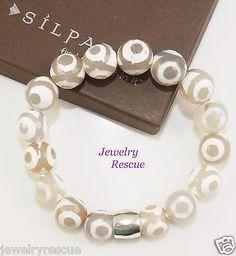 Silpada-Safari-STRETCH-Bracelet-Agate-925-Sterling-Silver-B3007-G