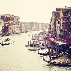 Venice, Italy-- by far my favorite city in Italy! The only place I can think of where you take a boat as a taxi to get from the train station to your hotel and from your hotel to the airport.
