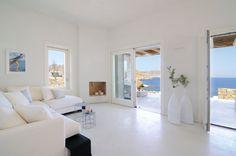 επαύλεις Μύκονος Luxury Living, Oversized Mirror, Villa, Relax, Dining Table, Real Estate, Inspiration, Furniture, Design