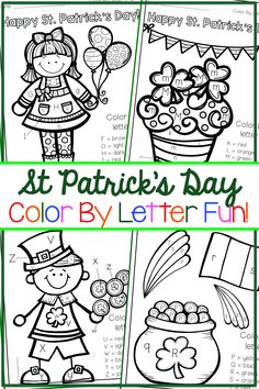 St Patricks Day activity perfect for preschoolers and kindergartners! These coloring sheets are both educational and make for a fun little St Patricks Day craft!