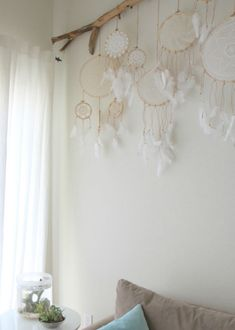 Vintage Doily Dreamcatcher No. 004 by BelleNotti on Etsy. Love this idea. Dreamcatchers hanging from a branch Dreamcatchers, Craft Projects, Projects To Try, Arts And Crafts, Diy Crafts, Idee Diy, Vintage Room, Etsy Vintage, Home And Deco