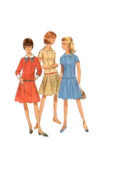 Retro 60s Sewing Pattern Simplicity 6867 by AdeleBeeAnnPatterns, $9.00