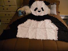 Animal Rag Quilt   - Baby Blanket, Panda Bear Baby Blanket- Caitlyn has this blanket :)