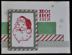 Santa Claus Christmas Card with Sparkle & Shine Washi Tape. Email me for shopping list @ ilov2cr84u@gmail.com