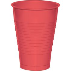 Touch of Color 12 Oz Plastic Cups Coral/Case of 240