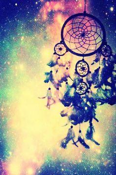 Dreamcatcher wallpaper galaxy cutare google we heart it diy galaxy dream catcher voltagebd Gallery
