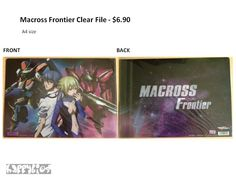 Macross Frontier Clear File  Anime Character Goods  A4 size
