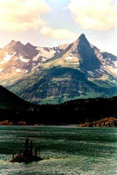 Wild Goose Island. Glacier National Park.