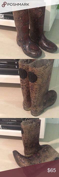 I just added this listing on Poshmark: Stuart Weitzman Anaconda Rain Boots. #shopmycloset #poshmark #fashion #shopping #style #forsale #Stuart Weitzman #Shoes