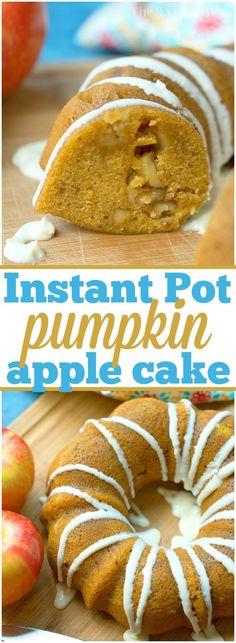 Instant Pot Pressure Cooker Pumpkin Apple Cake