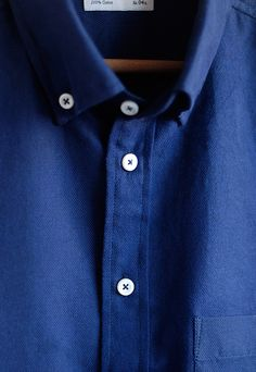 Collars are the other men's best friend. However, if you're never gonna wear a tie with your shirt, best get an oxford button-down shirt. Here's a crispy one by Brooklyn Tailors.
