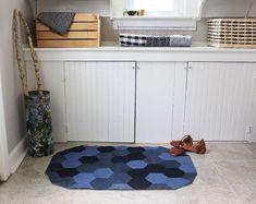 Rug ~ Hexagon by Rachel Denbow through A Beautiful Mess