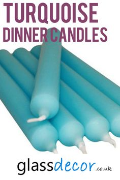 These tall candles will add a classic charm to any setting and are ideal for matching colour schemes for your wedding table. Wedding Candelabra, Wedding Table, Centre Pieces, Colour Schemes, Romantic, Turquoise, Rustic, Dinner