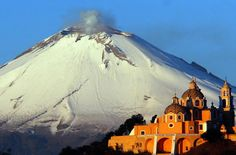 The Church of Our Lady of the Remedies built on top of the Great Pyramid of Cholula