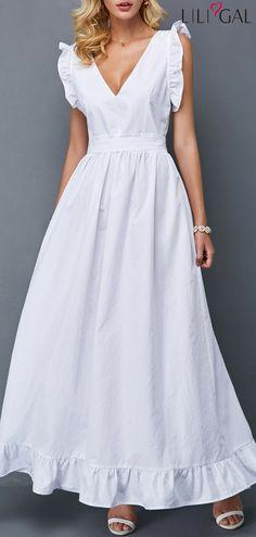 Long Maxi Dresses Bowknot Detail V Back Stringy Selvedge Maxi Dress Cheap Dresses, Dresses For Sale, Sexy Dresses, Dresses Online, Nice Dresses, Casual Dresses, Short Dresses, Fashion Dresses, Girls Dresses