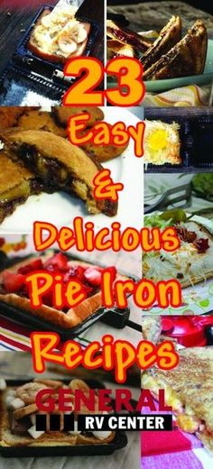 Unique Pie Iron Recipes For Breakfast, Lunch, Dinner and Dessert. Wow Your Guest… Unique Pie Iron Recipes For Breakfast, Lunch, Dinner and Dessert. Wow Your Guests With These Pie Iron Recipes On Your Next Camping Trip! Camping Hacks, Camping Meals, Camping Recipes, Family Camping, Camping Dishes, Camping Cooking, Tent Camping, Camping Checklist, Camping Essentials