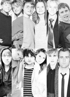 Harry Potter cast then and now :)