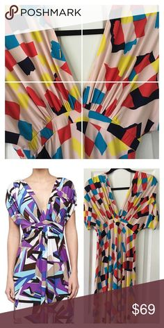 T-bags  Los Angeles Empire Waist Dress - Sz S NEW This is a très chic tbags Los Angeles Empire Waist Dress - Sz S NEW without tags. Trendy print throughout - very fashionable flair. V-neck and backline.Dolman sleeves . Smocked inset at empire waistline adds texture and proportion. Slip-on silhouette. Straight hemline. Made in the U.S.A.  Length: 50 in Topshop Dresses Maxi