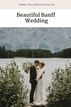 Two jack lake wedding in Banff. wedding mountains Two jack lake wedding photos in Banff Wedding Couple Photos, Romantic Wedding Photos, Bride And Groom Pictures, Wedding Couples, Wedding Ideas, Wedding Pictures, Banff, Wedding Photography Poses, Couple Photography