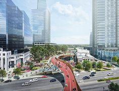 Floating Above a Freeway, Innovative New Park  in Atlanta #NelsonByrdWoltzLandscapeArchitects #landscape #architecture #design #urbanism #atlanta #concept