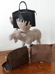 Celine, Hermes, Burberry, Prada, Shops, Chanel, Louis Vuitton Damier, Pattern, Bags