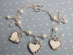 Broken China Jewelry China Heart Bridal by Robinsnestcreation1, $45.95