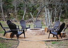One of the items on our never ending to-do list, was to put in some sort of outdoor fire pit.  We have such a pretty outdoor setting and a perfect little clearing down by our dry creek bed.  It seemed like a waste to not be enjoying every part of it.  But there always seemed …