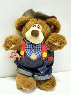 Marchon Vintage 1985 Stuffed Plush Country Bears Teddy 9in