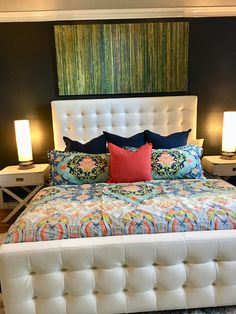 Master bedroom—colorful
