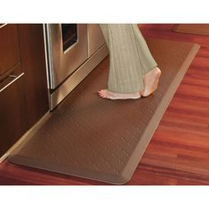 The Chefu0027s Fatigue Relieving Floor Mat. Note That We Ordered Two And They  Look Great BUT Hammacher Schlemmer Has No More In Stock!