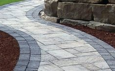 Gorgeous oaks pavers Ideas, unique oaks pavers and villanova paving stone 49 oaks pavers and walls Front Yard Walkway, Small Front Yard Landscaping, Path Ideas, Pavers Ideas, Concrete Stone, Paving Stones, Natural Stones, Landscape, Design