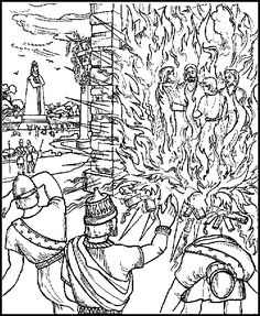 Shadrach Meshach Abednego ABDA ACTS Coloring Page