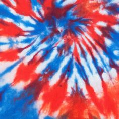 Tie Dye With Red & Blue