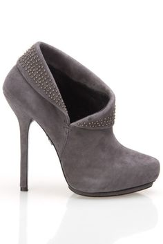 Rock and Republic Gray Fold Over Bootie